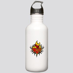 Depp Heart Flame Tattoo Stainless Water Bottle 1.0