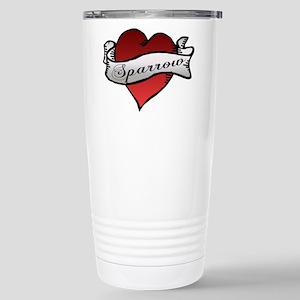 Sparrow Tattoo Heart Stainless Steel Travel Mug