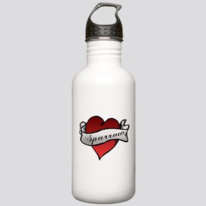 Sparrow Tattoo Heart Stainless Water Bottle 1.0L
