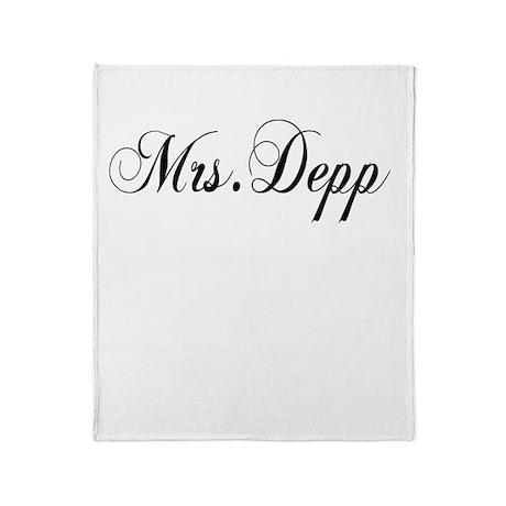 Mrs. Depp Throw Blanket