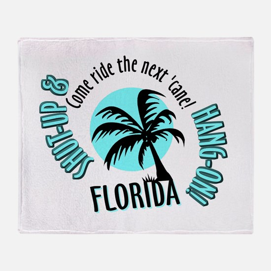 FLORIDA Come Ride the Hurrica Throw Blanket
