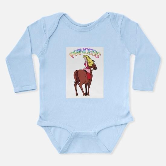 Blonde Princess and Pony Long Sleeve Infant Bodysu