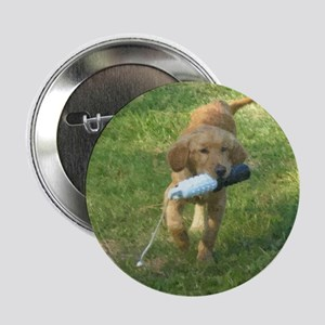 """Puppy with Bumper 2.25"""" Button"""