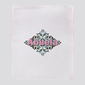 Abuela Spanish Crest Throw Blanket