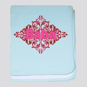 Personalized Baba baby blanket