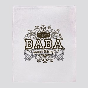Property Of Baba Throw Blanket