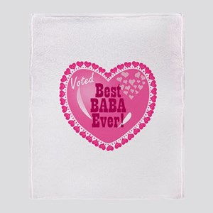 Best Baba Ever Throw Blanket