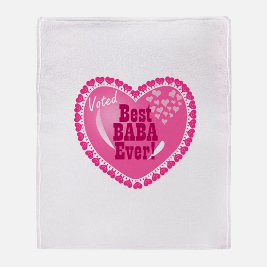 Best Baba Ever Throw Blanket