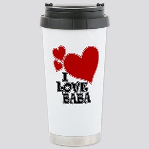 I Love Baba Stainless Steel Travel Mug
