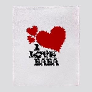 I Love Baba Throw Blanket
