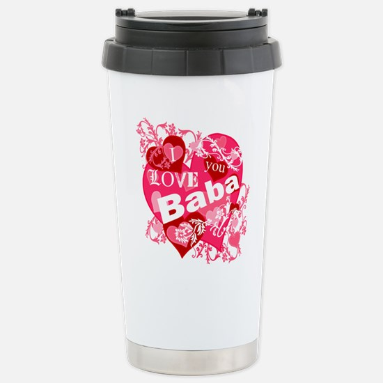 I Love You Baba Stainless Steel Travel Mug