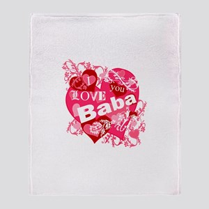 I Love You Baba Throw Blanket