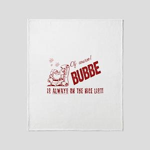 Nice List Bubbe Throw Blanket