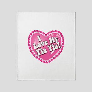 I Love My Yia Yia Throw Blanket