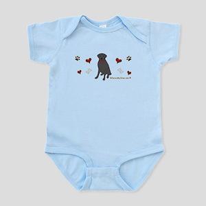 lab - black Infant Bodysuit