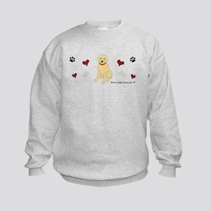 golden retriever Kids Sweatshirt