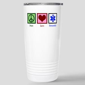 Peace Love Paramedic Stainless Steel Travel Mug