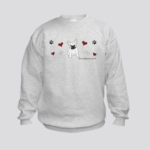 french bulldog Kids Sweatshirt