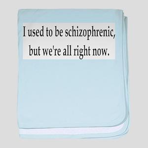 Schizophrenic baby blanket