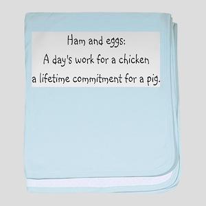 Ham and eggs baby blanket