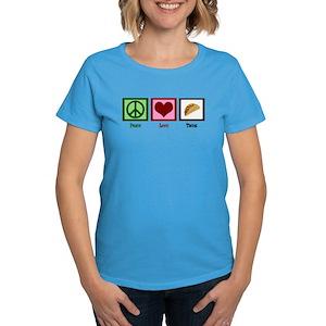 384a3b8a Peace Love Tacos Women's T-Shirts - CafePress