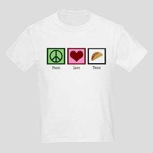 Peace Love Tacos Kids Light T-Shirt