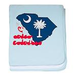 ILY South Carolina baby blanket