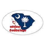 ILY South Carolina Sticker (Oval 10 pk)