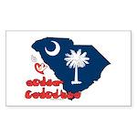 ILY South Carolina Sticker (Rectangle 50 pk)
