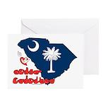 ILY South Carolina Greeting Cards (Pk of 20)