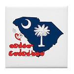 ILY South Carolina Tile Coaster