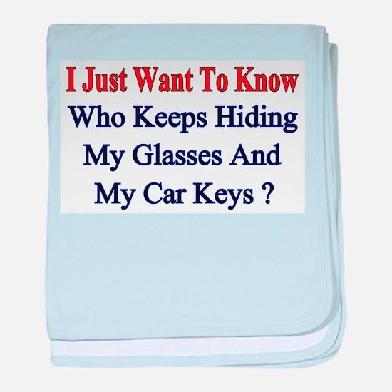 My Car Keys? baby blanket