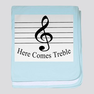 Here Comes Treble .. baby blanket