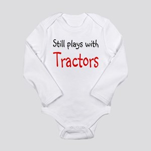 Still plays with Tractors Long Sleeve Infant Bodys