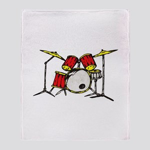 Drum Set Throw Blanket