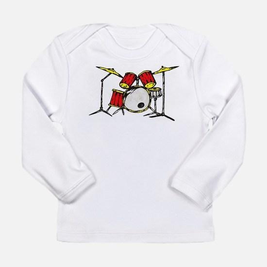 Drum Set Long Sleeve Infant T-Shirt