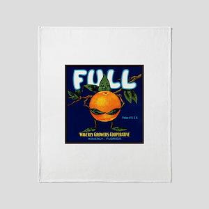 Full Oranges Throw Blanket