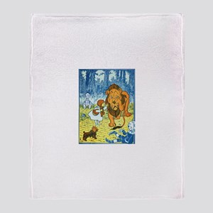 Cowardly Lion Throw Blanket