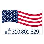 America Likes Sticker (Rectangle)