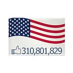 America Likes Rectangle Magnet (100 pack)