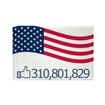 America Likes Rectangle Magnet (10 pack)