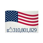 America Likes Rectangle Magnet