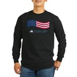 America Likes Long Sleeve Dark T-Shirt