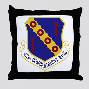 42nd Bomb Wing Throw Pillow