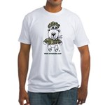Wire A Cake Bear Fitted T-Shirt