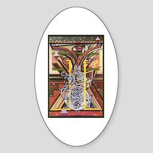 Cultural Icon Sticker (Oval)
