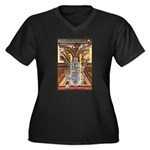 Cultural Icon Women's Plus Size V-Neck Dark T-Shir