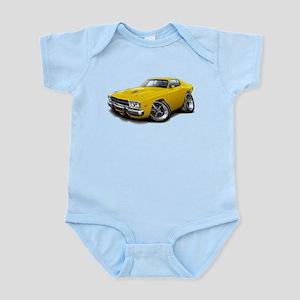 Roadrunner Yellow Car Infant Bodysuit