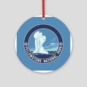Yellowstone Travel Souvenir Ornament (Round)