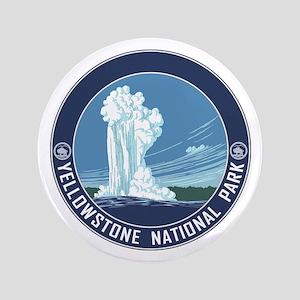 """Yellowstone Travel Souvenir 3.5"""" Button"""
